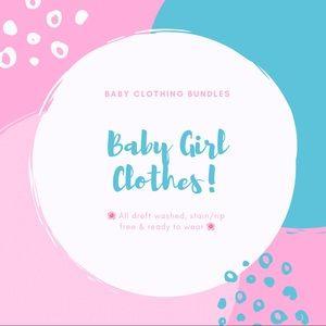 Baby Girl Romper Onesie Outfit Bundle 3-6M
